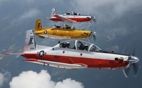 Wallpaper T-6B, training aircraft, Texan II