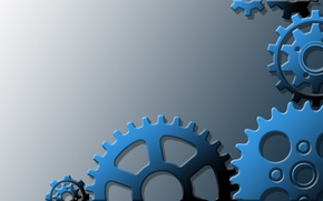 Picture stars, background, steel, texture, art, gear, tooth, blue, stars, background, stars, gears, scumbria, transfer