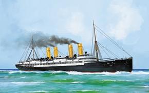 Picture Germany, ship, wave, Transatlantic Ships