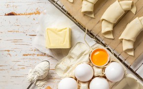 Picture table, egg, oil, milk, cakes, background, flour, Baking, ingredients, ingredient