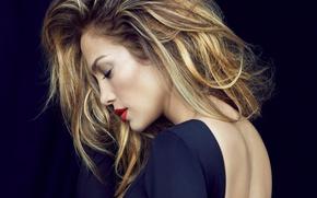Wallpaper singer, Jennifer Lopez, back, actress