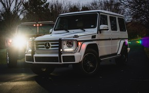 Picture Light, Mercedes, Hummer, White, W463, G-class