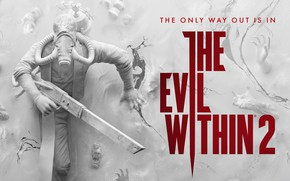 Picture weapons, fiction, wall, The Evil Within 2