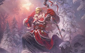 Picture winter, new year, Christmas, art, World of Warcraft, blizzard, warcraft, wow, orc