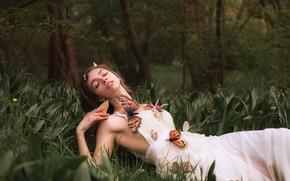 Wallpaper butterfly, girl, Aleah Michele, Beautiful Illusion