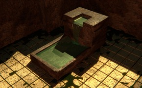 Picture water, stream, stone, yard, angle, Megalit, blender3d