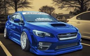 Wallpaper design, Subaru, WRX, car