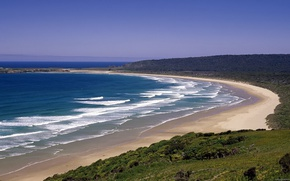 Picture sea, wave, beach, New Zealand