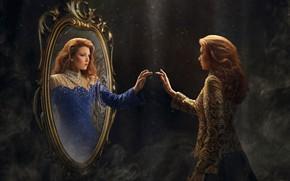 Picture girl, reflection, mirror, Robert Cornelius