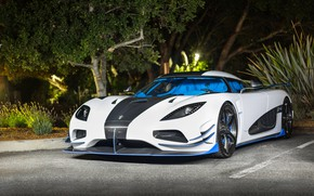 Picture Koenigsegg, Night, White, Agera