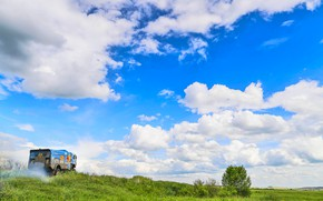 Picture The sky, Nature, Clouds, Sport, Speed, Truck, Race, Master, Beauty, Russia, Beast, Kamaz, Rally, Rally, …