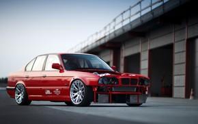 Picture Red, Auto, BMW, Machine, E34, German, Larry Chen, BMW E34