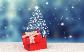 Picture winter, snow, background, gift, new year
