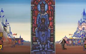 Picture 1931, triptych, Nicholas, Joan of Arc, Roerich