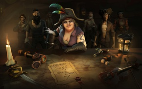 Picture sword, game, snake, pirate, hat, woman, ken, tatoo, blade, captain, kaizoku, taichou, Sea of Thieves