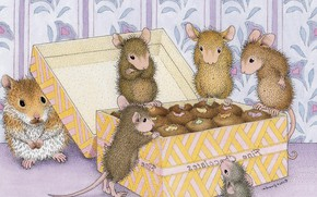 Picture mouse, friends, box, children's, snacks, hamster, Goodies, Ellen Jareckie