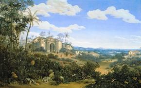 Picture landscape, picture, Frans Post, View Orinda. Brazil