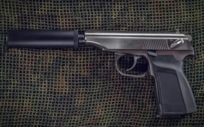 Picture weapons, gun, pistol, weapon, muffler, the Makarov pistol, Makarov, PMM, Makarov, PMM