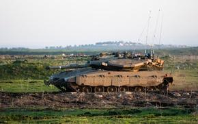 Wallpaper tank, combat, Merkava