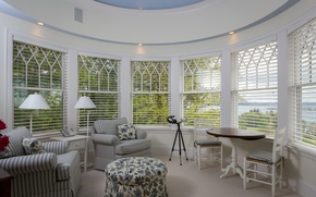 Picture furniture, Windows, veranda