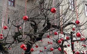 Wallpaper holiday, toys, tree
