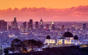 Picture landscape, home, CA, panorama, Los Angeles, USA, Griffith Observatory