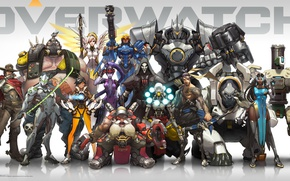 Picture Game, Blizzard Entertainment, Reaper, Hanzo, Mei, Bastion, Overwatch, Tracer, Widowmaker, Mercy, McCree, Pharah, Reinhardt, In ...