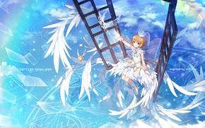 Picture angel, art, girl, card captor sakura
