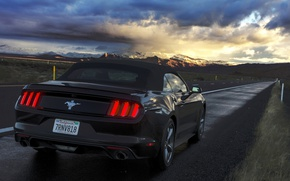 Picture road, the evening, mustang, ford