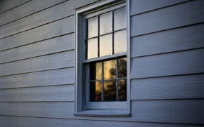 Picture house, the evening, window