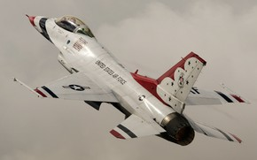 Picture fighter, F-16, Fighting Falcon, Thunderbird