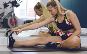 Wallpaper legs, blonde, workout, fitness, gym