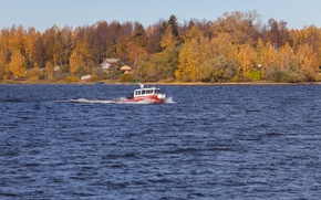 Picture autumn, boat, boat, RIB, Lider 10, The leader of the 10