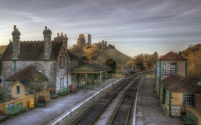 Picture England, Home, The city, Corfe Castle Station, Railroad