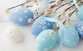 Wallpaper decoration, Verba, wood, Easter, Easter, the painted eggs, Happy, spring, eggs