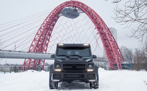 Picture Mercedes, Winter, AMG, Moscow, W463, G65, Carbon-pro