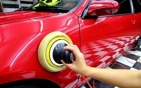 Picture metal, Metal, hand, vehicle, polisher