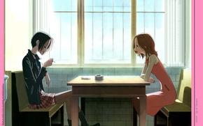 Picture room, sofa, cigarette, ashtray, friend, window, at the table, nana, nana komatsu, nana osaki, NAN, …