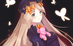 Picture butterfly, anime, art, girl, bows, Fate Grand Order, The destiny of a great campaign, Abigail ...