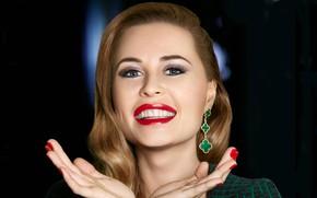 Picture smile, celebrity, lips, TV, Julia Mikhalkov