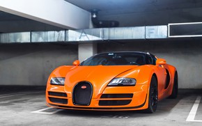 Wallpaper Veyron, Vitesse, Grand, Orange, Bugatti, Sport