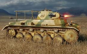Picture PzKpfw II, Panzerkampfwagen II, Tank observation car, the machine advanced artillery observers, Pz.OBS.Wg.II