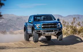 Wallpaper jump, Ford, Raptor, pickup, F-150, SuperCrew, 2019