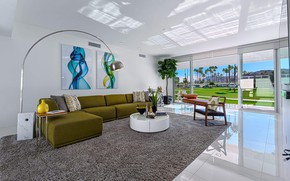 Picture interior, living room, Mid-Century Country Club