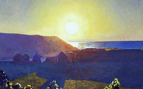 Picture landscape, nature, picture, Rockwell Kent, Rockwell Kent, Sun. Manana. Monhegan