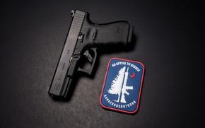 Picture macro, gun, background, glock 19