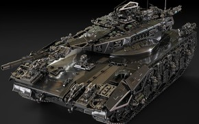 Picture metal, design, Tank