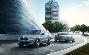 Picture Concept, BMW, 2018, electric car, electrocreaser, BMW iX3, i Vision Dynamics