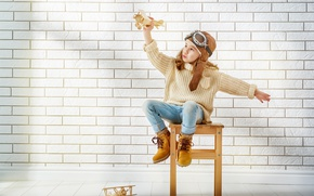 Picture Aircraft, Glasses, Wall, Girl, Mood, Sweater, Shoes