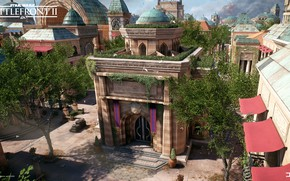 Picture trees, the city, building, architecture, Star Wars Battlefront